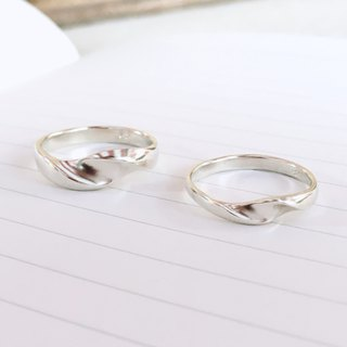 LIM - S wave streamline silver ring for men and women