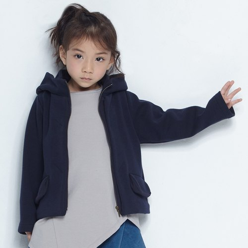 Comoyo - Double Layered Collar Jacket (2-6Y)