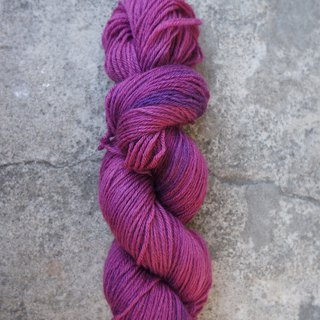 Hand-dyed lines. Grape jam. 100% blue face sheep (Sport)