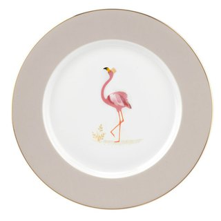 Sara Miller London for Portmeirion Piccadilly Collection Cake Plate - Flamingo