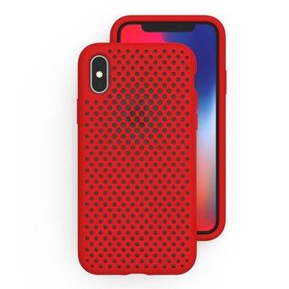 AndMesh iPhone X Japan Soft Impact Protection Cover - Red (4571384957663)