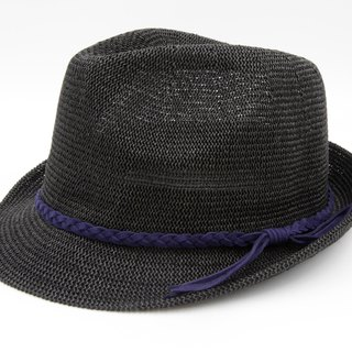 [Paper cloth home] Japanese gentleman hat net black