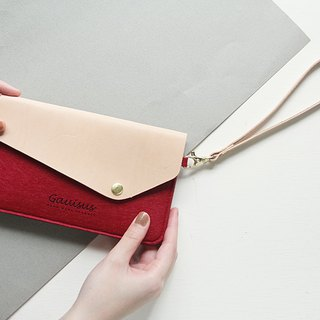 Leyang・Gauisus - Felt beveled cover mobile phone storage bag / Passport bag - not exaggerated red