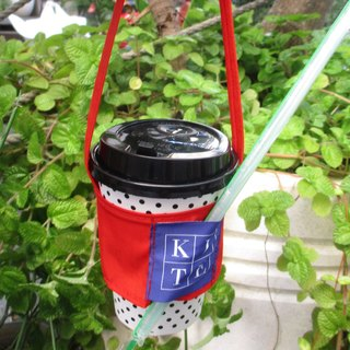 Small kite - green cup cover - red orange