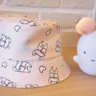 【Hello Fubao】-Fighting Fisherman Hat - Marshmallow Powder
