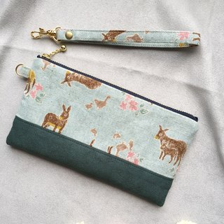 Country Wind Donkey - Suede Carrying Bag Cosmetic Bag Phone Bag