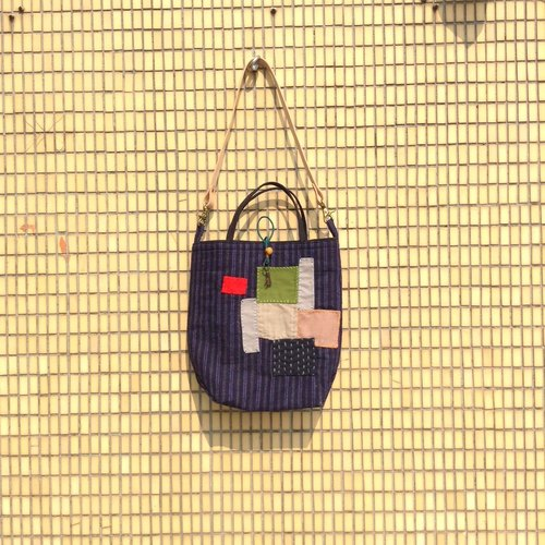 [Antique Lover] tote bag collection (M) Gubo Patchwork Hand / Shoulder Bag