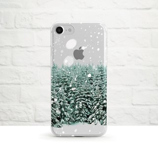 Snow Forest - shatter-resistant transparent soft shell - iphone X, iphone 8, iPhone 7, iPhone 6, iPhone SE