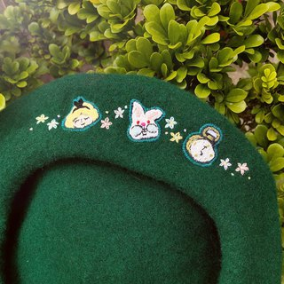 Koko Loves Dessert // I sell you youth - Embroidery beret (Alice and the Bunny Garden)