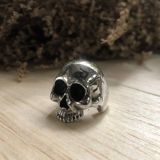 Memento Mori skull ring Jewelry heavy metal gothic black biker handmade Pirate