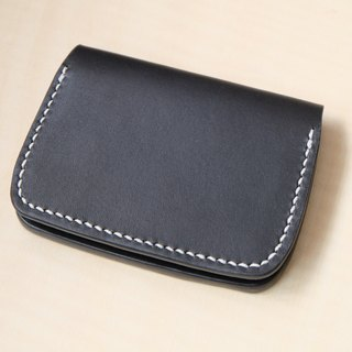 Hand stitched leather card holster / card holder / business card holder Italian tannage