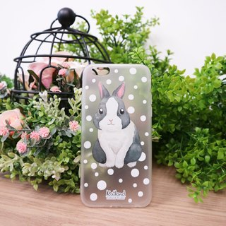 Home - Black and White Rabbit Case Case Case Case R03_02