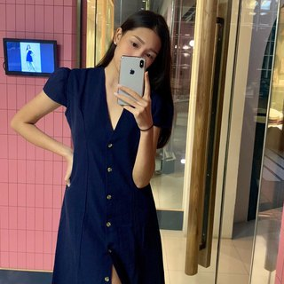 MILLY LONG DRESS / Navy