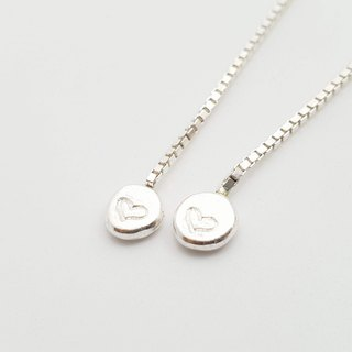 E16 - sterling silver box chain style - 925 silver ear (1 pair) - can be typed - custom ear