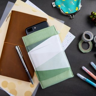 GEOMETRY【COBALT GREEN】OM CLEANING-FIBER CELL PHONE POUCH SUMMER-LIMITED