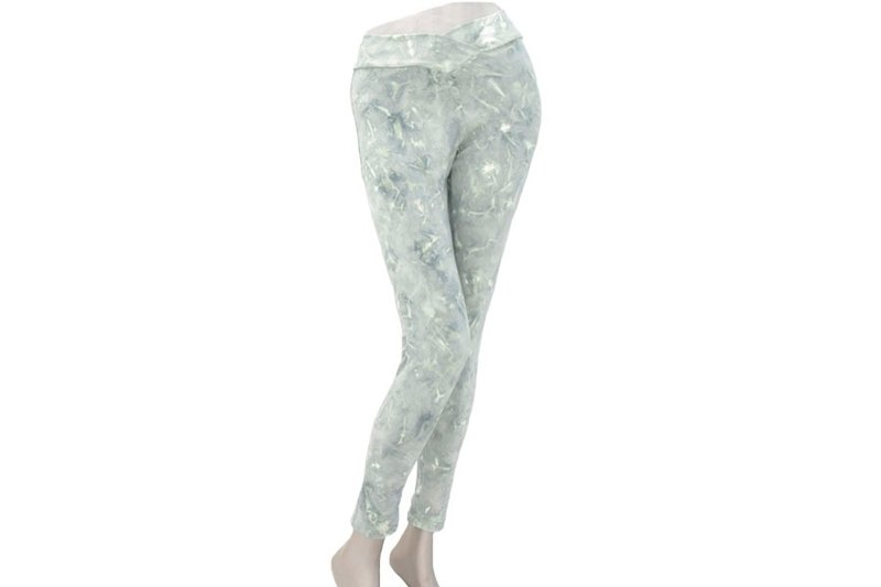 Superb comfort! Uneven dyed stretch leggings Long Pants <gray>