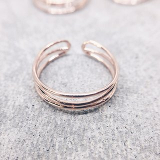 Interlaced Adventure [925 Sterling Silver] Adjusting Ring - Rose Gold
