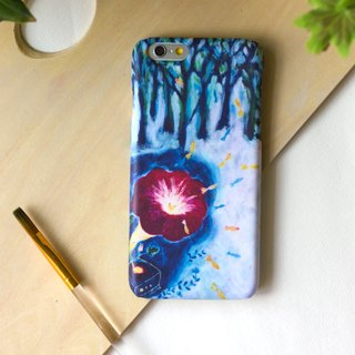Fish melody with Flower phonograph.  Matte Case (iPhone, HTC, Samsung, Sony)