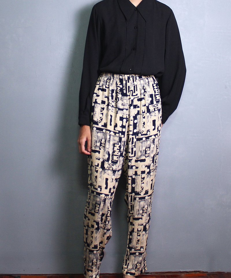 FOAK vintage Italian made abstract printed trousers