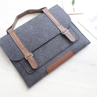 Genuine Pure Handmade Dark Gray Felt Microsoft Computer Case Blanket Set Power Pack Computer Case Surface Pro 4 Plus Type Keyboard Case cover type cover cover cover (can be tailored) - 008