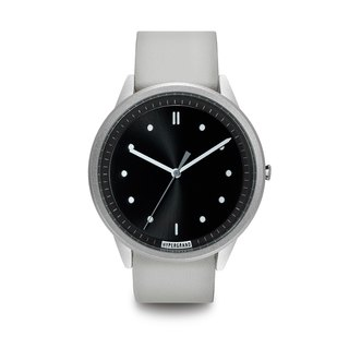 HYPERGRAND - 02 Basic Series - Silver Black Dial White Leather Watch