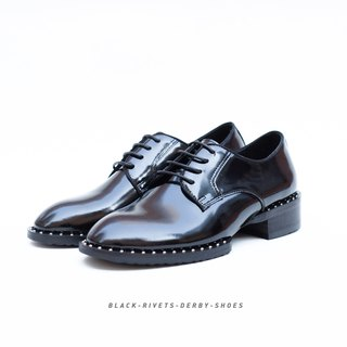 Black Rivtes Derby shoes