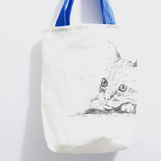 Goody Bag-limited blessing bag B hand-painted cat and dog rabbit tote bag + retro pressed flower necklace