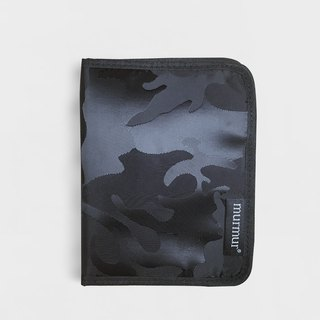 Murmur Passport Cover / Passport Holder - Camouflage Black
