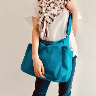Diaper bag, canvas Shoulder bag, Hobo shopping bag-no.101/ RENEE in Teal
