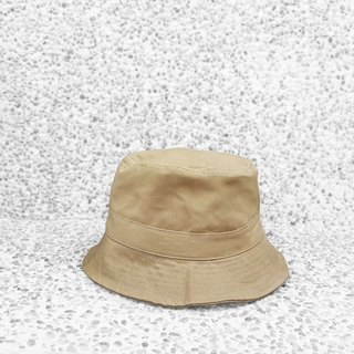 Extremely simple cotton double-sided hand-top flat fisherman hat - milk tea khaki
