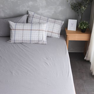 Natural Washed Quilt Set Bed Pillow Set - White x Grey
