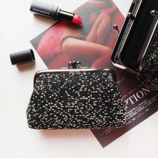 May be a woman of two grid purse / mouth gold package [Made in Taiwan]