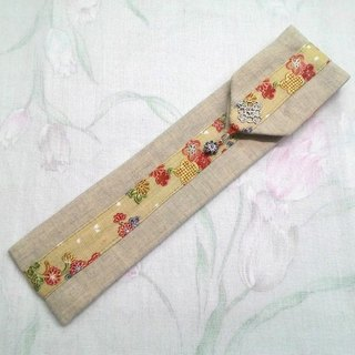 Tableware sets carry pouch chopsticks sets ~ Unique design hand-stitched F02-028