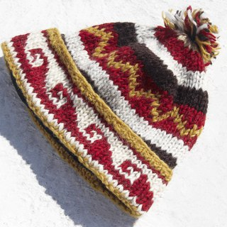 Christmas gift emergency gift exchange gift limited a hand-woven pure wool cap / knitted wool cap / inner bristled hand-woven wool cap / wool cap / handmade knitted hat - the beach at dusk Eastern Europe Wave Totem