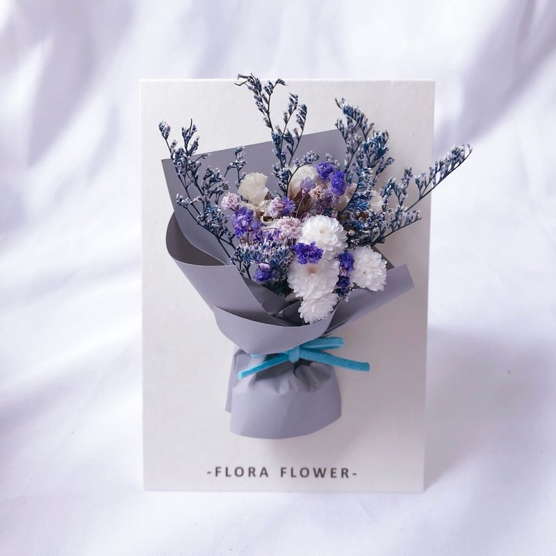 Dry Flower Card - Hermes Paper / Dry Flower / Handmade Card / Birthday Card / Opening Card / Greeting Card / Christmas Card