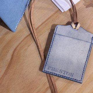 Make Your Choicesss handmade Italian leather neckband Card Holder