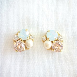 White Bijou earrings