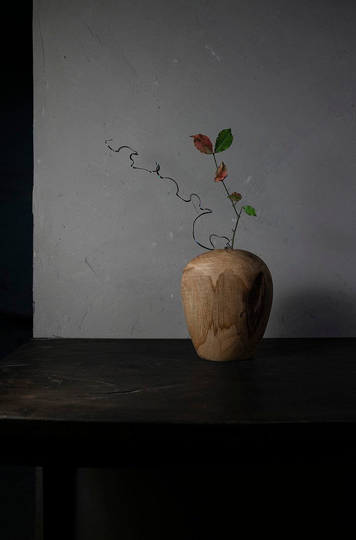 手工木製花器花瓶插花花藝擺飾017號板栗木