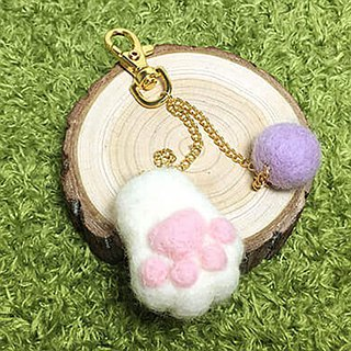 (with film teaching) cute small meat ball wool felt material package