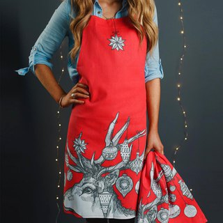SUSS-Exclusive Agent Gillian Kyle Scottish Reindeer Festival Totem Kitchen Work Apron