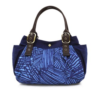 Zhuo also blue dyed - rainforest series bag