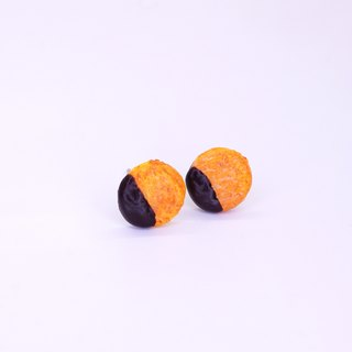 *Playful Design* Chocolate Cookie Earrings
