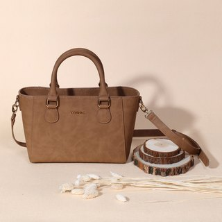 Small and Cute Design Petite Brown Color PU Faux Leather Women Shoulder Bag