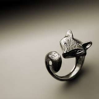 Handmade fox ring