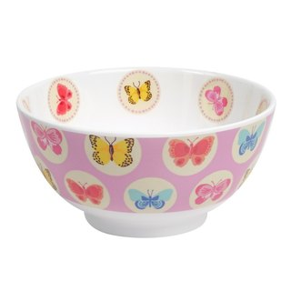 Butterfly 6 inch bowl - pink