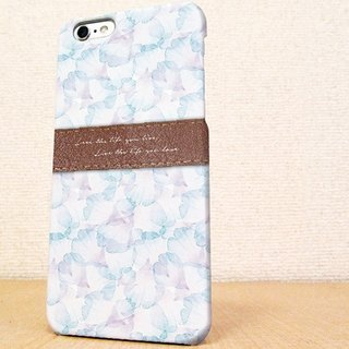 送料無料☆iPhone case GALAXY case ☆ Love the life Blue phone case