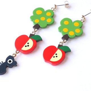 Apple picking  pierce/earrings