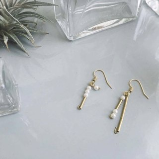 love / customizable morse code earrings