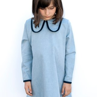 ear dog collar dress - blue