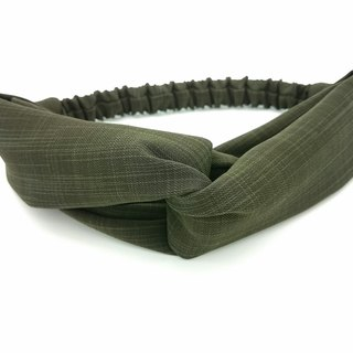 Plain Olive Green Cross Hairband*SK*